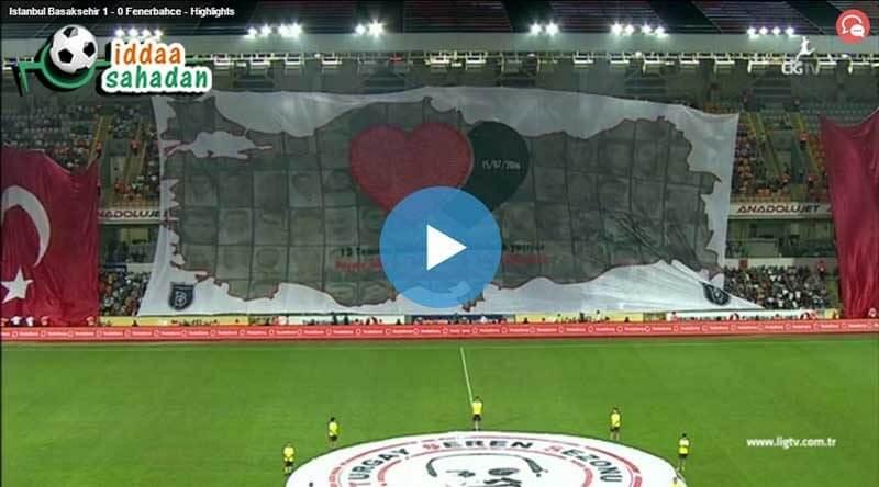 Başakşehir Fenerbahçe Maç Özeti