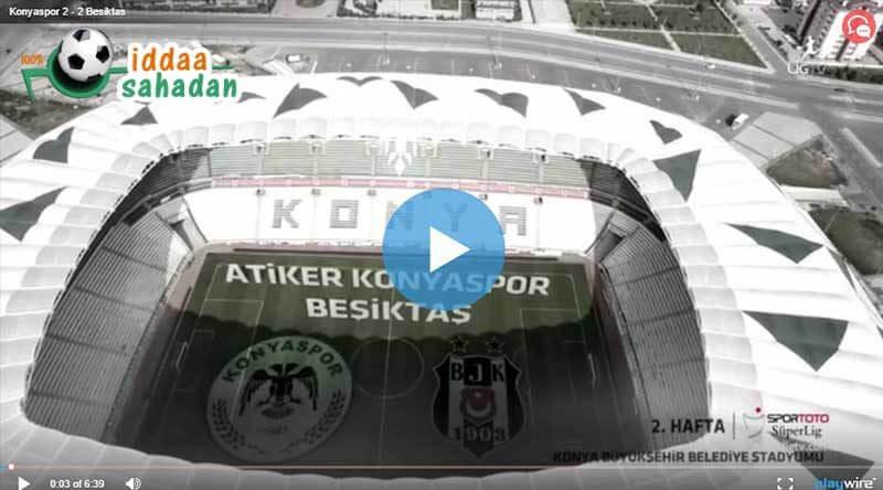 Konyaspor 2 – 2 Beşiktaş Geniş Maç Özeti