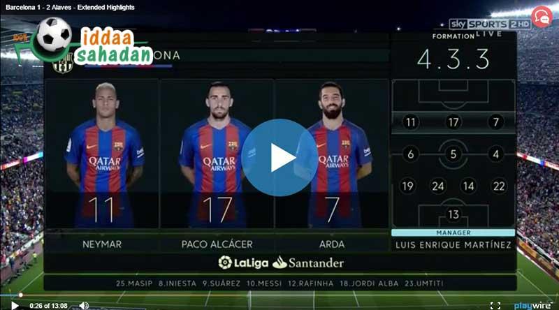 Barcelona Deportivo Alaves Maçı Özeti