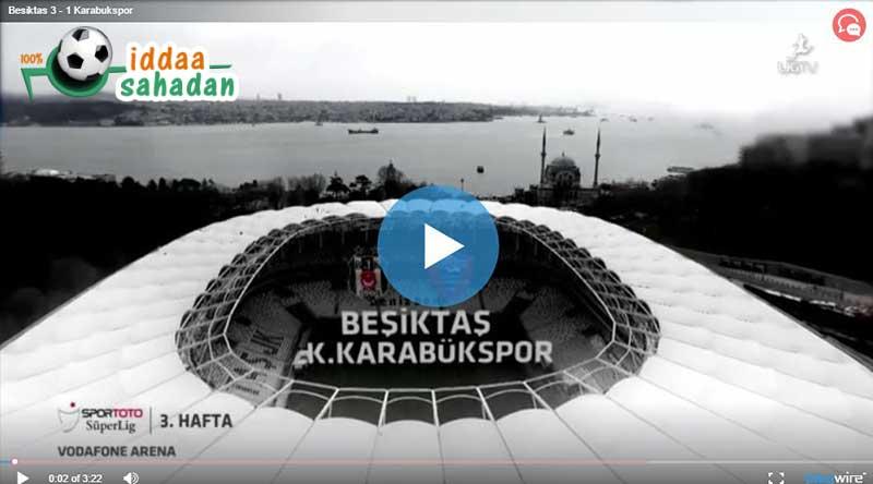 Beşiktaş Karabükspor Maçı Özeti