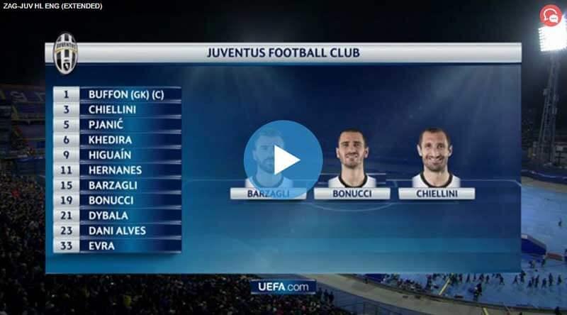Dinamo Zagreb Juventus Maçı Özeti