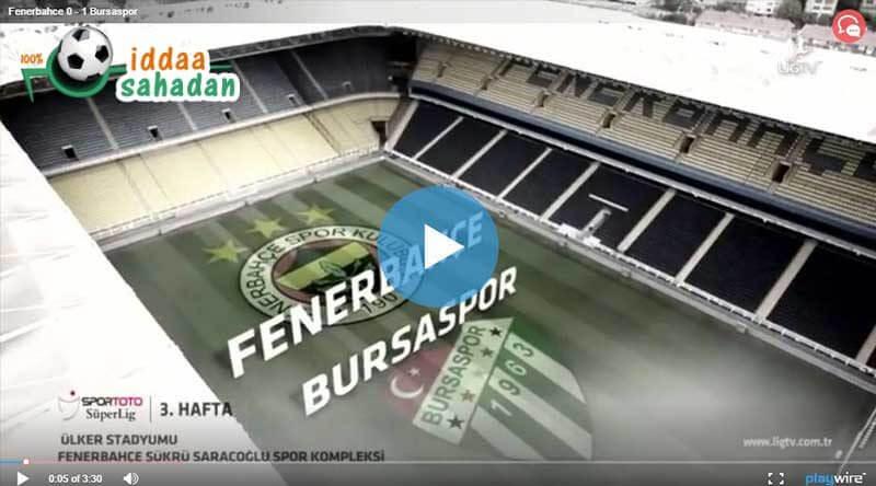 Fenerbahçe Bursaspor Maçı Özeti