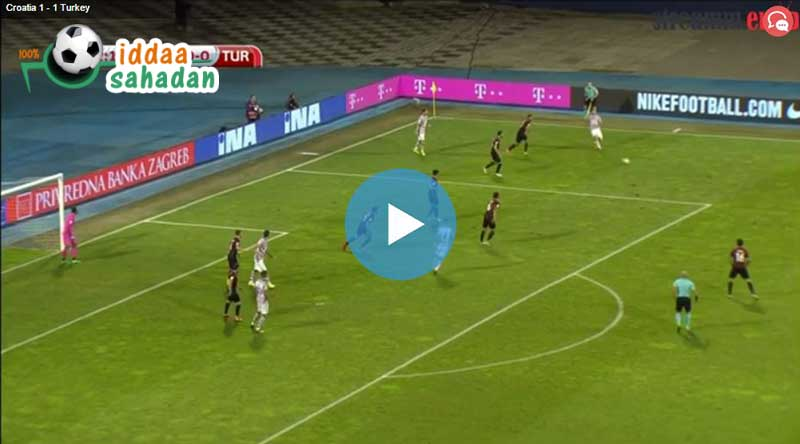 Hırvatistan Türkiye Maçı Özeti