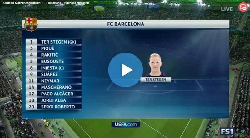 Barcelona Mönchengladbach Maç Özeti