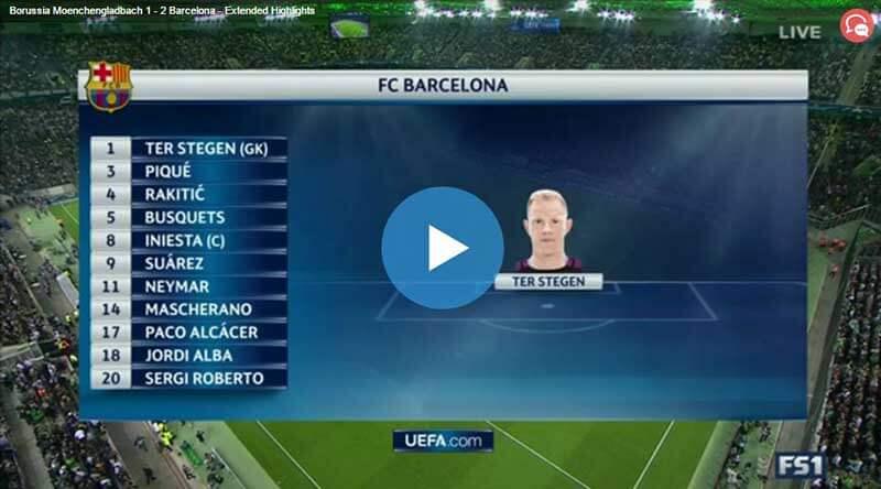 Mönchengladbach Barcelona Maçı Özeti