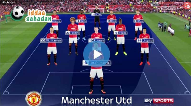 Manchester United Manchester City Maçı Özeti