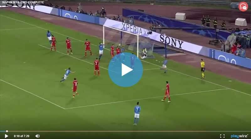 Napoli Benfica Maçı Özeti
