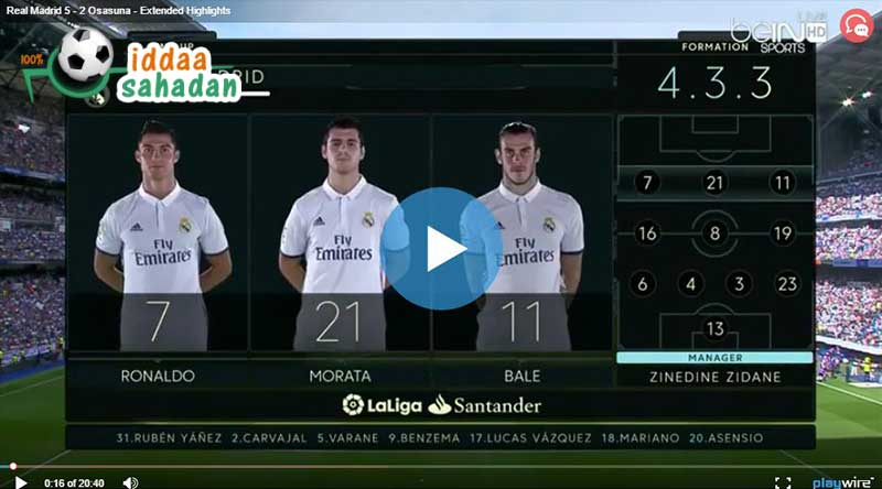 Real Madrid Osasuna Maçı Özeti