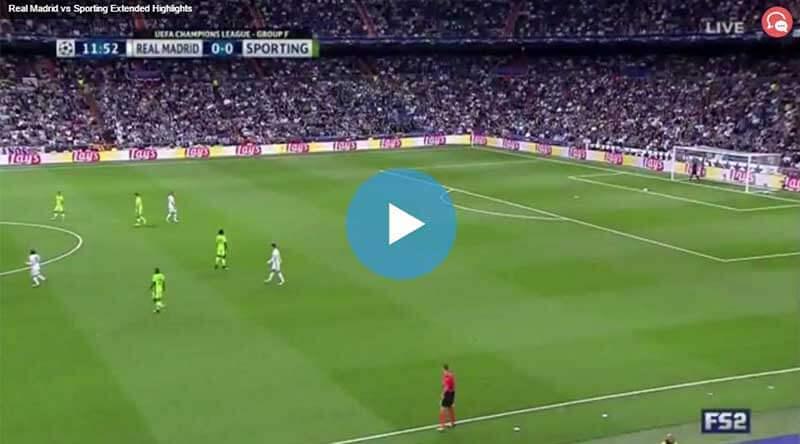 Real Madrid Sporting Lisbon Maçı Özeti