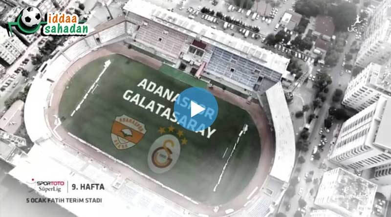 Adanaspor Galatasaray Maç Özeti