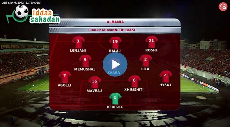 Arnavutluk İspanya Maçı Özeti