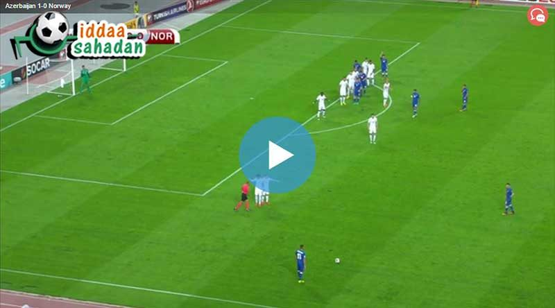 Azerbaycan Norveç Maçı Özeti