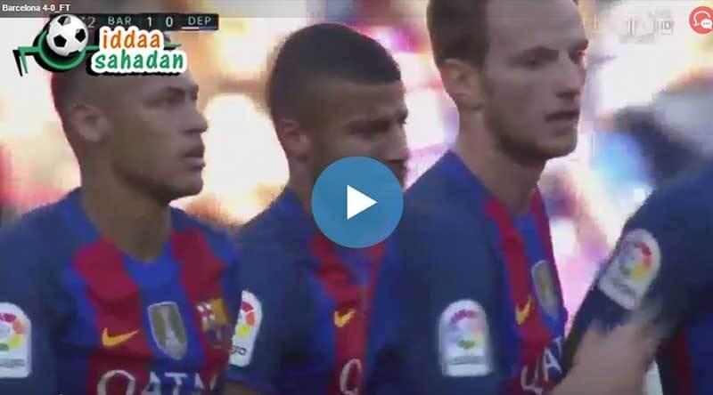 Deportivo La Coruna Barcelona Maç Özeti