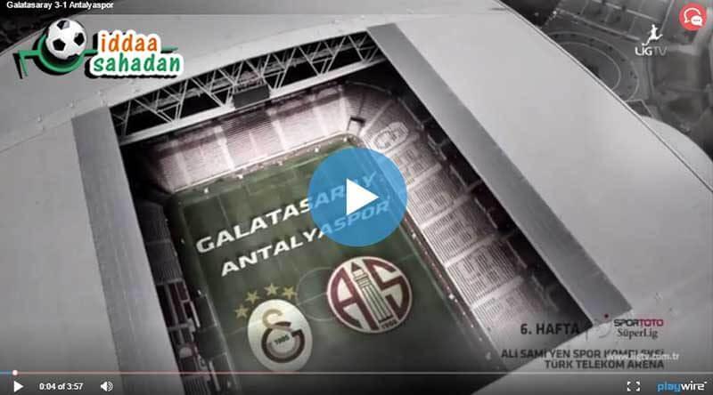 Galatasaray Antalyaspor Maçı Özeti