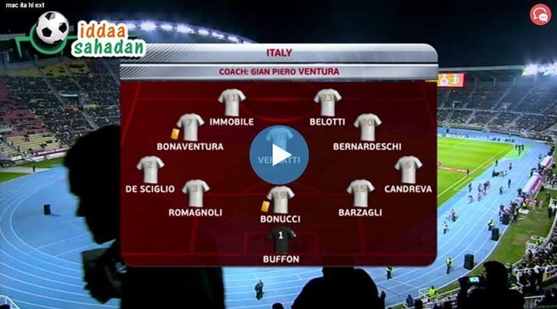 İtalya Arnavutluk Maç Özeti
