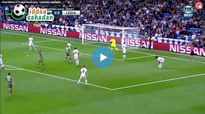 Real Madrid Legia Varşova Maç Özeti