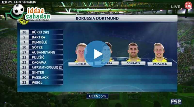 Benfica Dortmund Maç Özeti