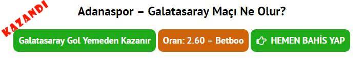 Adanaspor Galatasaray kazanan tahmin