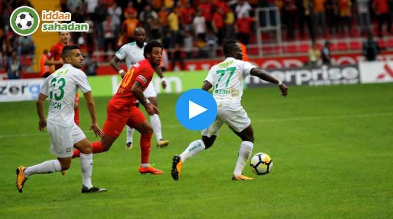 Kayserispor Bursaspor Özet