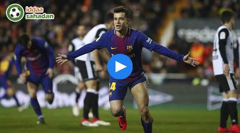 Valencia Barcelona Kupa Maçı Özeti