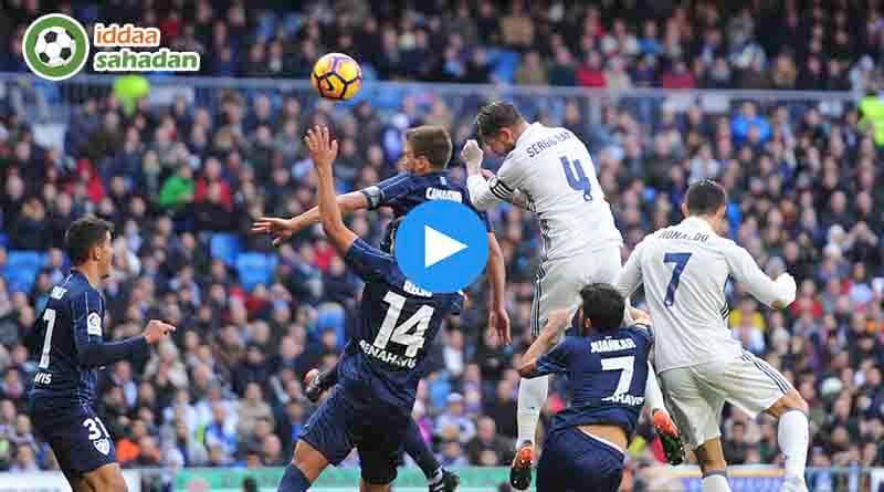 Malaga Real Madrid Özet