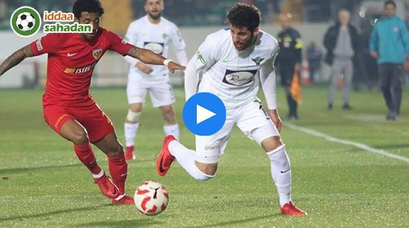 Kayserispor Akhisarspor Özet