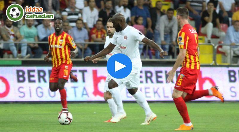 Kayserispor Antalyaspor Özet
